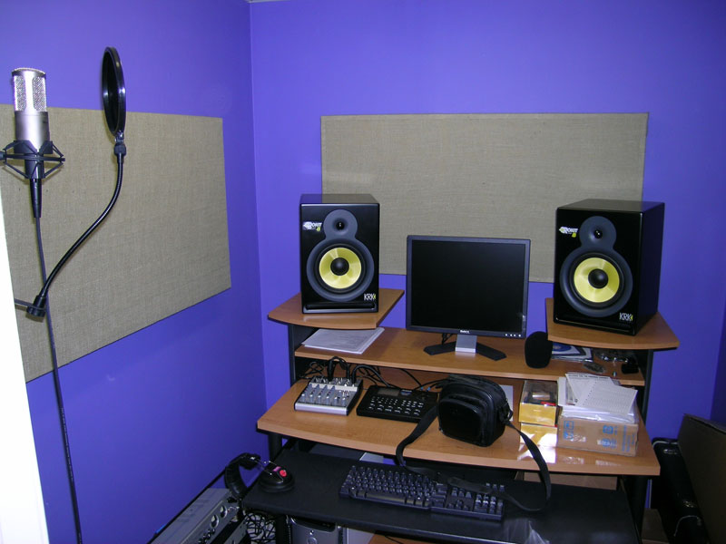Home studio version 2 5 pics included home recording - Bedroom studio acoustic treatment ...